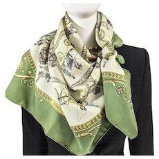 Hermes Silk Scarf La Promenade de Longchamps Early Issue