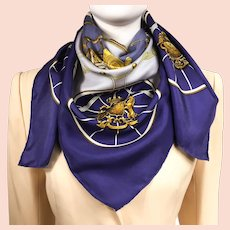 Authentic Hermes Silk Scarf Springs by Philippe Ledoux