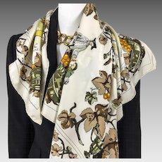 Vintage Hermes Silk Scarf Vendanges Hennessy RARE