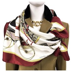Hermes Silk Scarf Les Voitures a Transformation Early Issue w/BOX