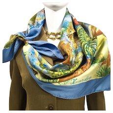 Authentic Vintage Hermes Silk Scarf Nuba Mountain