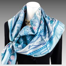 Hermes Silk Scarf 90 cm Twill Jeux de Paille UNWORN