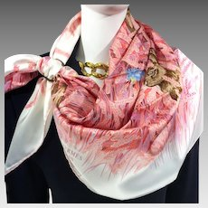 Authentic Hermes Silk Scarf Les Bles Hugo Grygkar