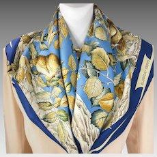 Authentic Vintage Hermes Silk Scarf Casse Noisette RARE w/Box