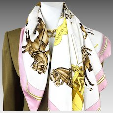 Hermes Silk Scarf Coach & Saddle Early Issue