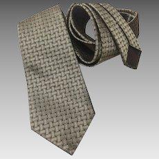 Hermes Silk Necktie Faconnee Weave Pattern