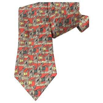 Hermes Silk Necktie 7368 PA Ecuries