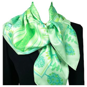 Hermes Silk Scarf Paridaiza Light Green UNWORN Special Issue
