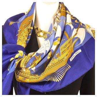 Hermes Silk Scarf Armada 1976 UNWORN Rare