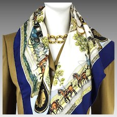 Hermes Silk Scarf Grands Attelages Early Issue