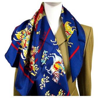 Artaban Hermes Silk Scarf by Pierre Peron - Vintage