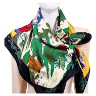 Coiffes Normandes AKA Costumes des Departements HERMES Silk Scarf