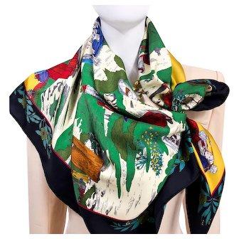 Coiffes Normandes AKA Costumes des Departements HERMES Silk Scarf