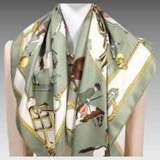 Equitation Japonaise Hermes Silk Scarf