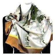 Les Ponts de Paris Hermes silk twill scarf - Vintage