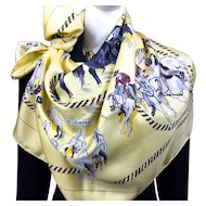 La Camargue Authentic VTG Hermes Silk Scarf