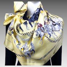 La Camargue Authentic VTG Hermes Silk Scarf