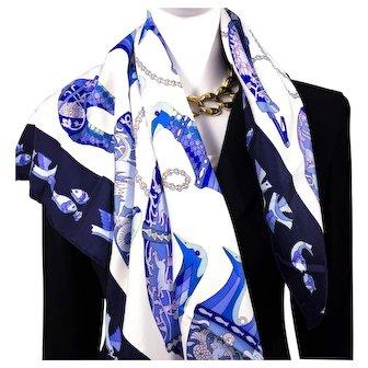 Rhytons Hermes silk scarf (100% silk) - GRAIL w/Box