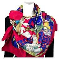 Chapeau! Hermes silk scarf (100% silk) - Unworn