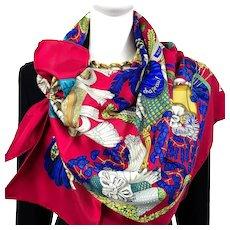 Chapeau! Hermes silk scarf (100% silk) - New in Box