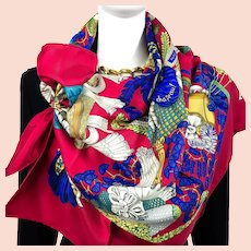 Chapeau! Hermes silk scarf (100% silk) - New in Box