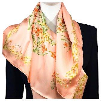 Cheval Fleuri Hermes silk scarf (100% silk) - New in Box