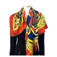 Animaux Solaires Hermes silk twill scarf (100% silk)