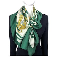 Brides de Gala Hermes silk scarf (100% silk) - Vintage