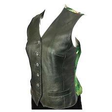 Concerto Hermes Silk & Leather Vest