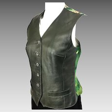 Concerto Hermes Silk & Leather Vest