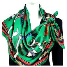Couvertures et Tenues du Jour Hermes Silk Scarf