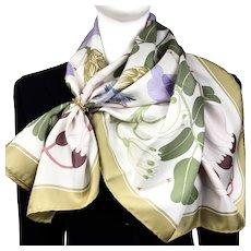 Flora Graeca - Paeonia Bysantin Hermes Silk Scarf