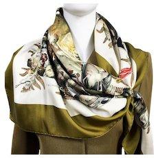 Gibiers Hermes Silk Twill Scarf