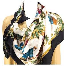 Joies d'Hiver Hermes Silk Jacquard Scarf