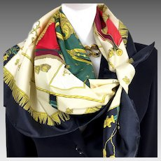 La Reale - Vue Du Carrosse de la Galere Hermes Silk Scarf UNWORN