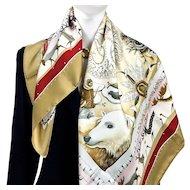 La Vie du Grand Nord Hermes silk scarf UNWORN