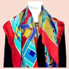 L'Art Indien des Plaines Hermes Silk Scarf NIB