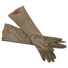 Hermes Kid Leather Long Gloves - UNWORN