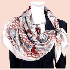Les Boxes Hermes Silk Scarf Off White