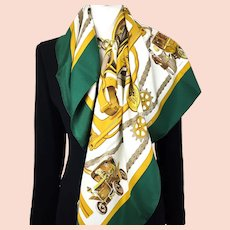 Musee Schlumpf Hermes Silk Scarf Very RARE Limited Edition