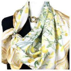 Oeillets Sauvages et Autres Caryophyllees Hermes Silk Scarf