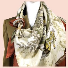 Petite Venerie Hermes silk scarf (100% silk) - RARE