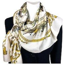 La Promenade de Longchamps Hermes silk scarf