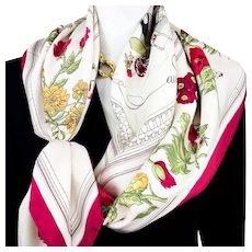 Quai aux Fleurs Hermes Silk Scarf Vintage