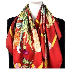 Regina Hermes Silk Scarf Early Rust CW Issue
