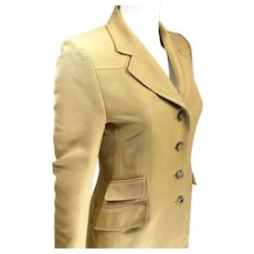 Hermes Fitted Riding Jacket in 100% Cotton Size 42