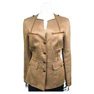 Hermès Linen/Hemp Jacket in Linen and Hemp Blend - Size 42