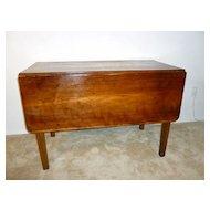 Vintage Drop Leaf Table 1930's Cherry Wood