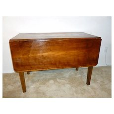 Vintage Drop Leaf Table 1930's Cherry Wood
