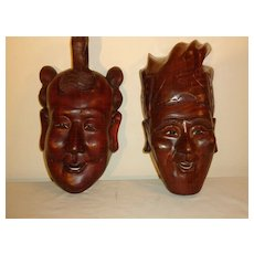 Ethnographic Oceanic Hand Carved Wood Masks